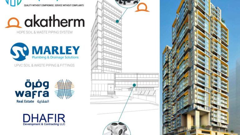 Aquaplex to Supply Akatherm and Marley HDPE and uPVC pipes and fittings to a Project in the UAE