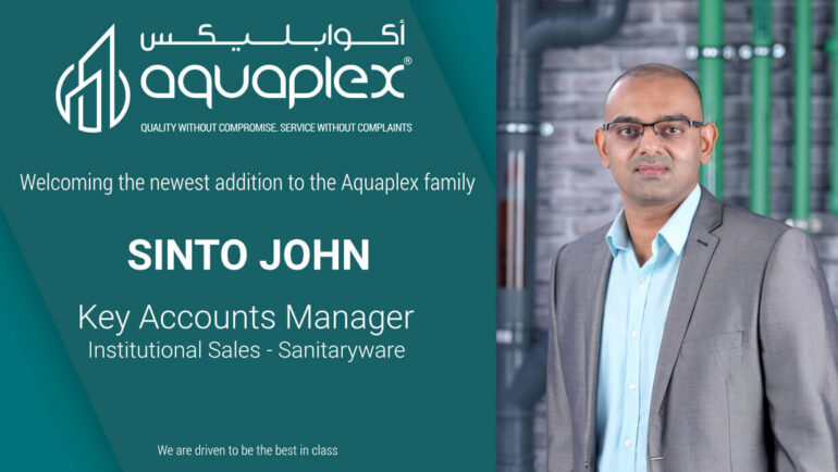 Appointment of Mr. Sinto John as Key Account Manager for the Sanitaryware Division
