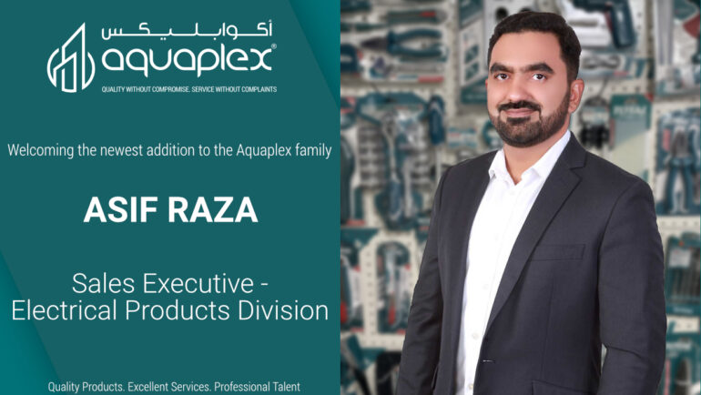 Asif Raza has joined the Souq Distribution team as a Sales Executive for the Electrical Products Division